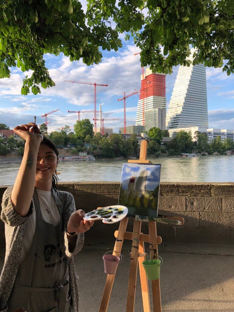 open air painting session in Basel