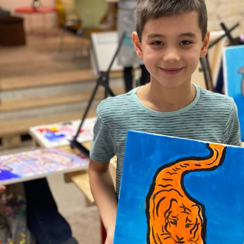 kids painting class in basel