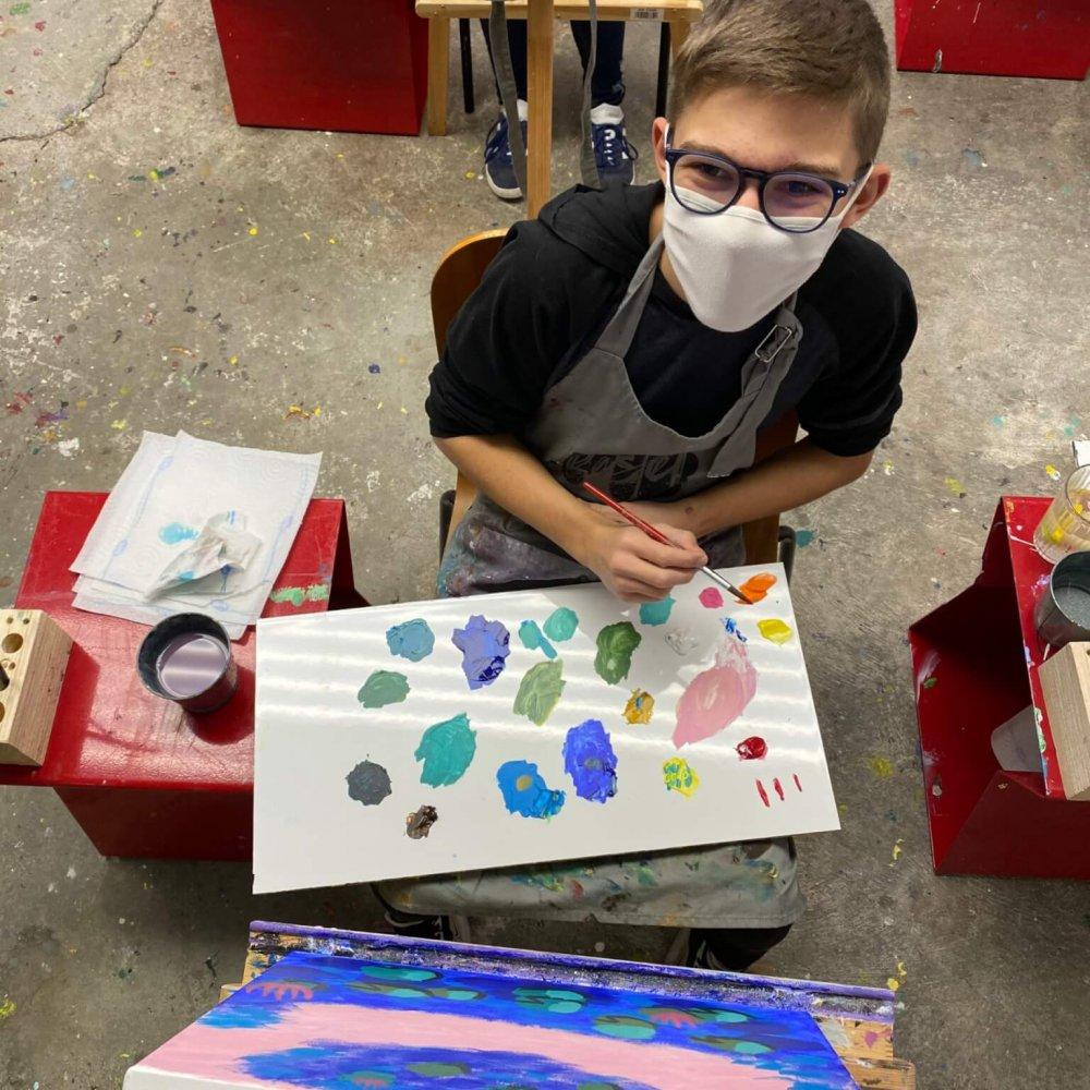 kids painting classes, art classes in basel
