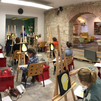 group painting workshop in our gallery