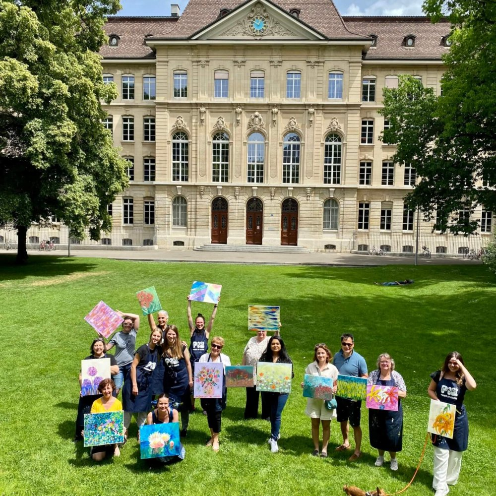 Painting in the park with Sunday Brunch in Basel