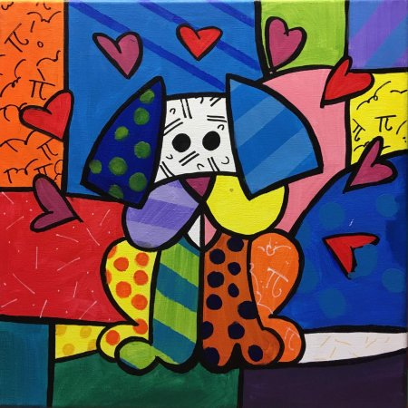 'Romero Britto: The dog'